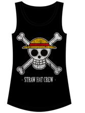 ONE PIECE Straw Hat Crew Tanktop for Women Black – Bild 0