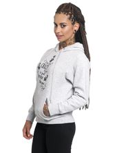 Alice in Wonderland I'm Not Crazy Girl Hoodie grey-mel. – Bild 1