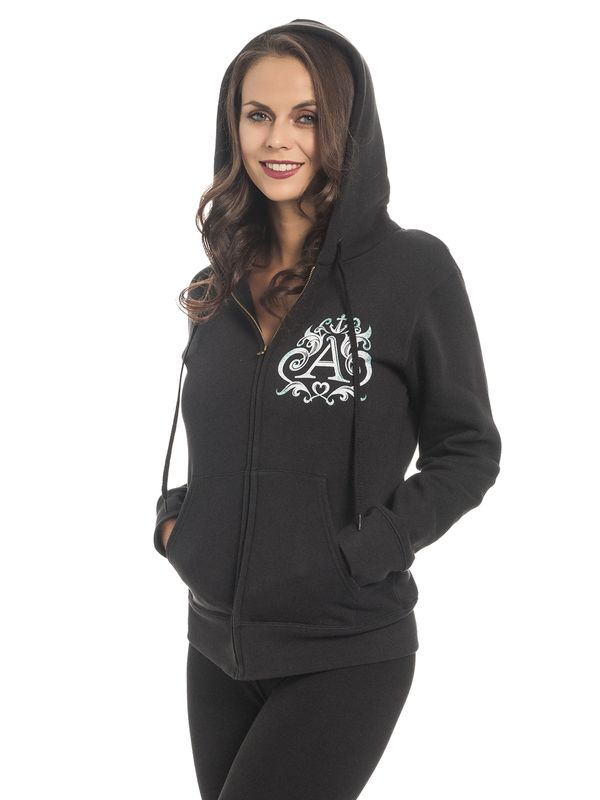 Alice im Wunderland Don't Know Where To Go Damen Zip-Hoodie Schwarz – Bild 4