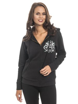 Alice im Wunderland Don't Know Where To Go Damen Zip-Hoodie Schwarz – Bild 2