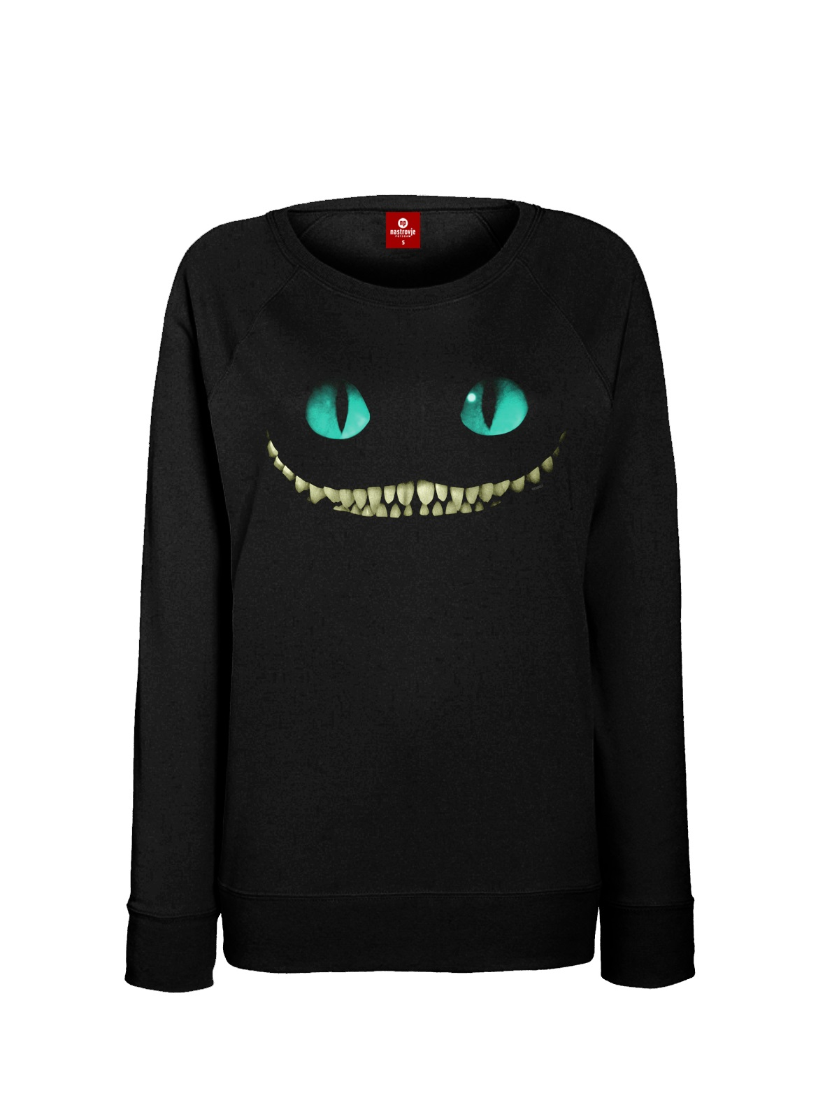 Alice In Wonderland Smile Sweatshirt For Women Black Women Sweater