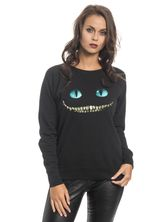 Alice in Wonderland Smile Sweatshirt for Women Black – Bild 2
