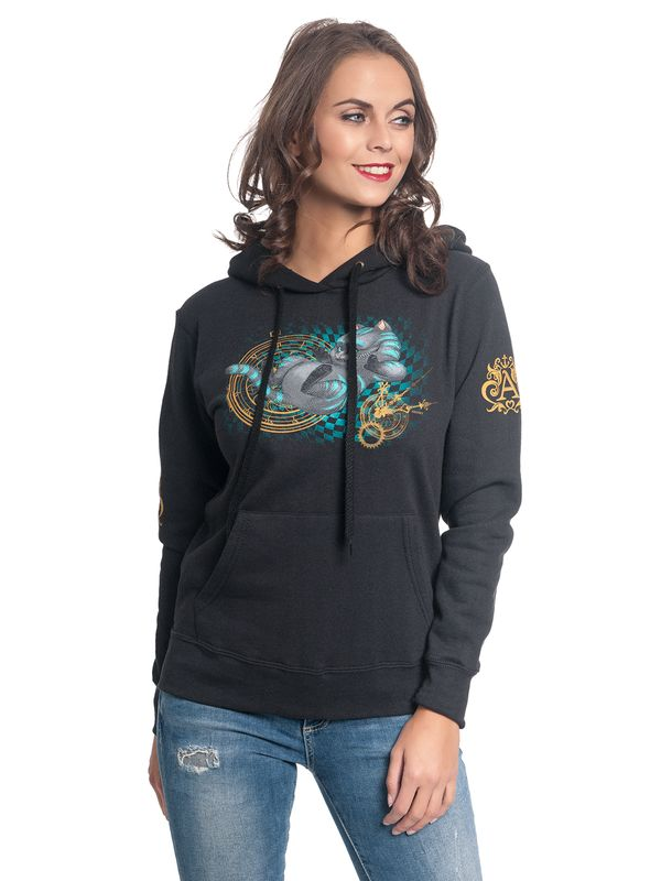 Alice in Wonderland About Time Hoodie for Women Black view