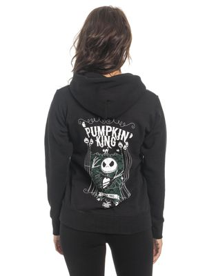 The Nightmare Before Christmas Pumkin King Damen Hoodie Schwarz – Bild 3