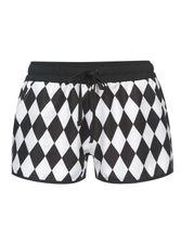 Pussy Deluxe Rhombus Shorts Black/White – Bild 0