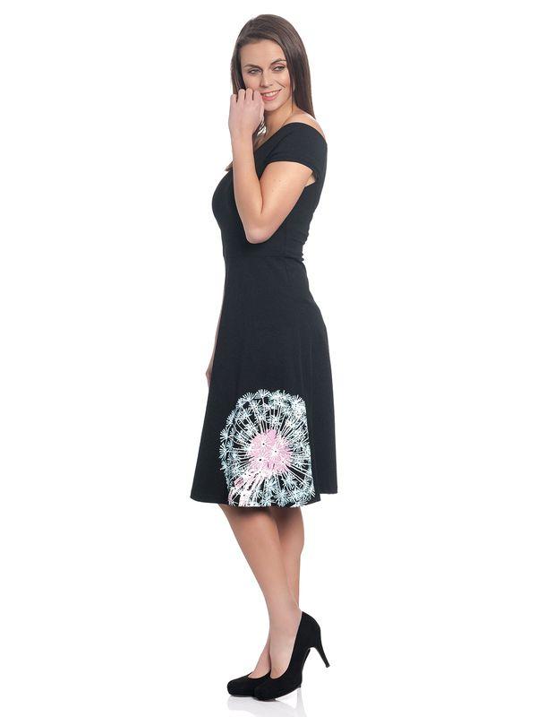 Pussy Deluxe Dandelion Dream Offshoulder Dress Black – Bild 3