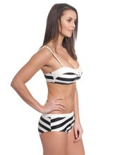 Pussy Deluxe Big Party Stripes Bikini Black/Cream – Bild 2