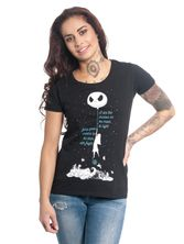 The Nightmare Before Christmas  Shadow On The Moon Tee for Women Black – Bild 0