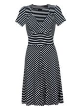 Vive Maria Biarritz Jersey-Dress blue/cream – Bild 0