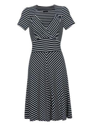 Vive Maria Biarritz Jersey-Kleid blau/creme – Bild 0