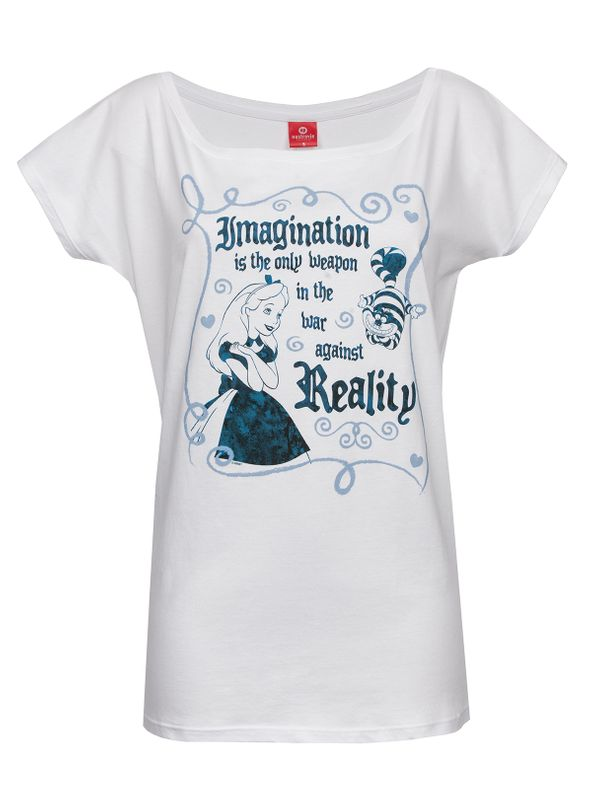 Alice in Wonderland Imagination Tee for Women White – Bild 1