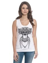 Djungle Book Shir Khan Top for Women White – Bild 1