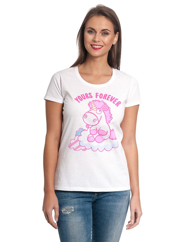 Minions Fluffy Yours Forever Tee for Women White – Bild 1