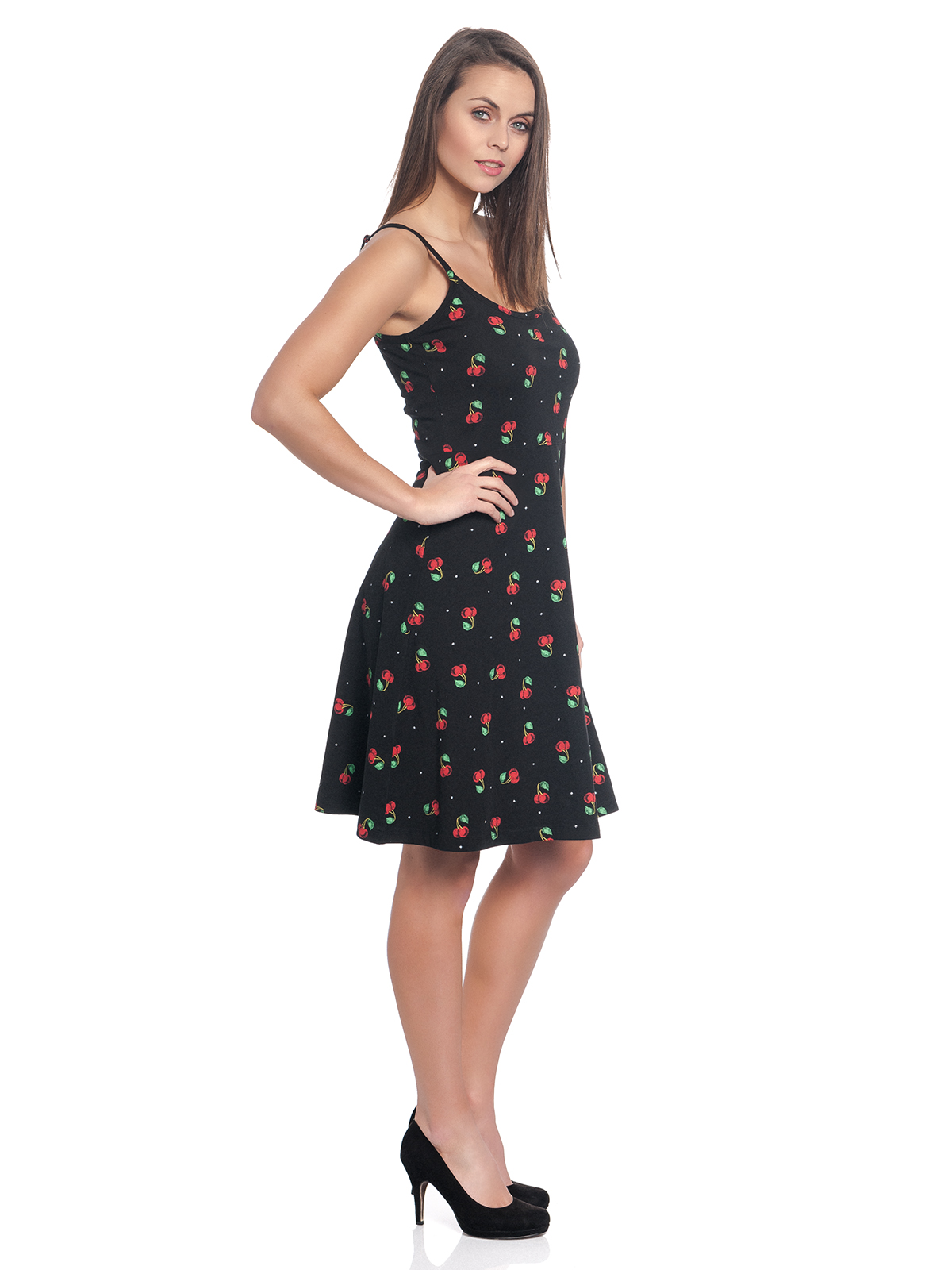 Pussy Deluxe Sweet Cherry Dress Black Allover Pussy Deluxe Dresses