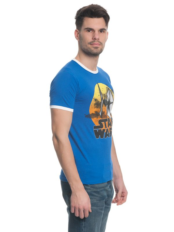 Star Wars TIE Fighter 77 Herren T-Shirt Blau – Bild 2