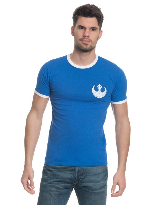 Star Wars Rebel 77 Herren T-Shirt Blau – Bild 1