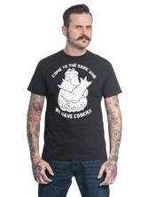 Sesame Street  Come To The Dark Side Male Tee Black – Bild 0