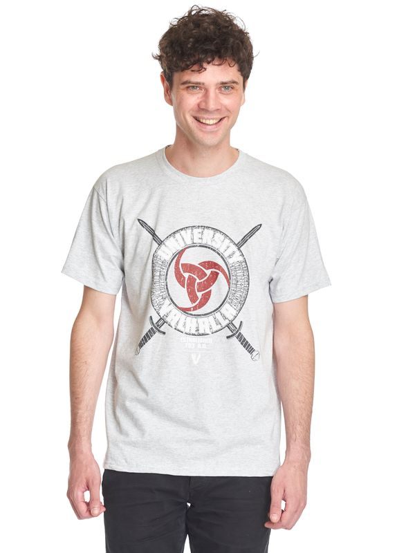 Vikings University Of Odin Valhalla T-Shirt grey-melange – Bild 1