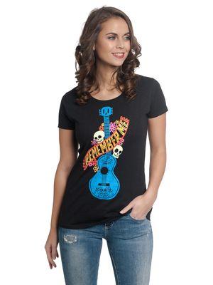 Disney Coco Guitarra Azul Damen T-Shirt Schwarz – Bild 0