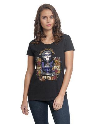 Coco Mama Colores Damen T-Shirt Schwarz – Bild 0