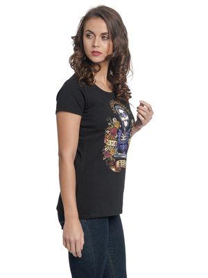 Coco Mama Colores Damen T-Shirt Schwarz – Bild 1