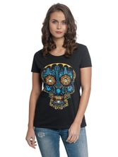 Coco Blue Skull Tee for Women Black – Bild 0