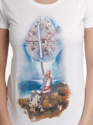 Star Wars The Stand 2 Damen T-Shirt Weiß – Bild 3