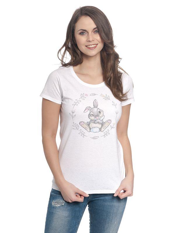 Bambi Klopfer Girl Shirt weiß – Bild 2