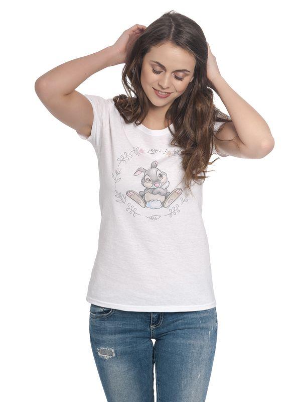 Bambi Klopfer Girl Shirt weiß – Bild 1