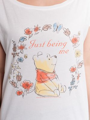 Winnie the Pooh Just Beeing Me Girl Loose Shirt weiss – Bild 3