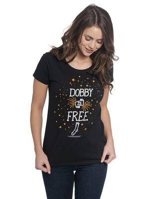 Harry Potter Dobby Damen T-Shirt Schwarz – Bild 2