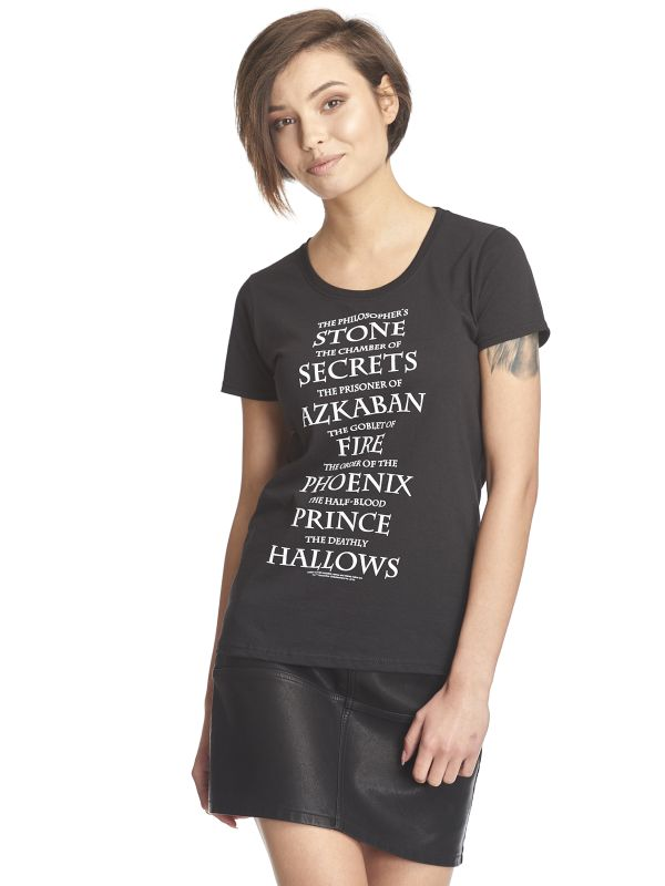 Harry Potter Titles Frauen T-Shirt schwarz – Bild 2