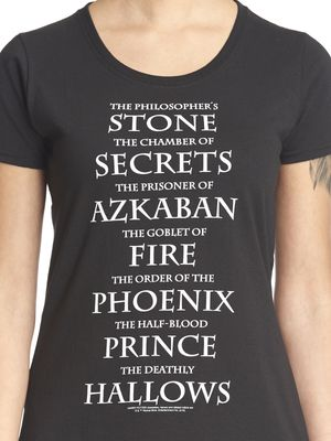 Harry Potter Titles Frauen T-Shirt schwarz – Bild 0