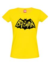 Batman Black Graffiti Logo Girl Shirt yellow – Bild 0
