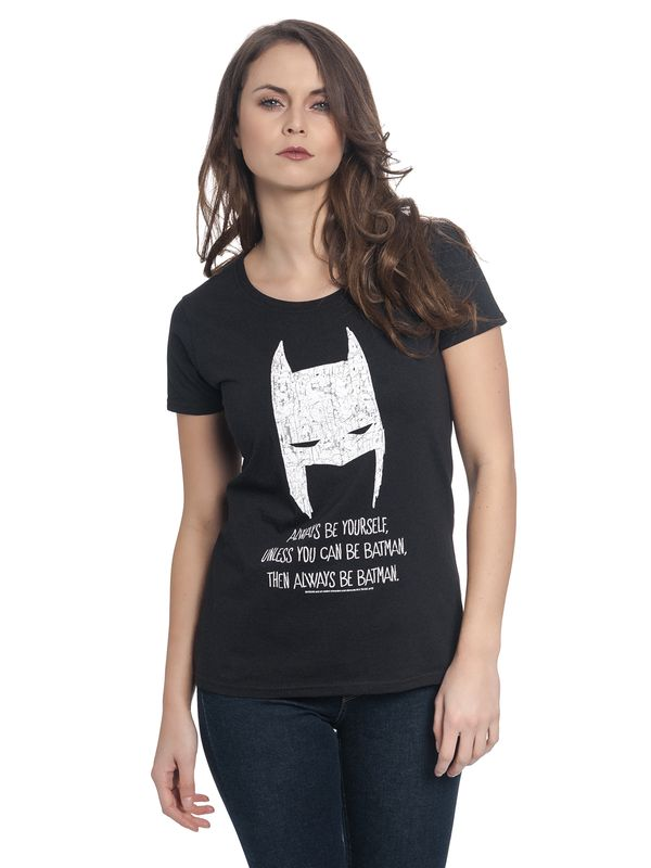 Batman Be Yourself Tee for Women Black view