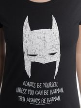 Batman Be Yourself Tee for Women Black – Bild 3