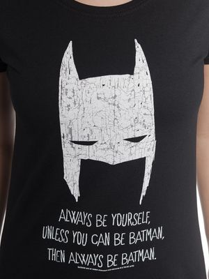 Batman Be Yourself Damen T-Shirt Schwarz – Bild 3