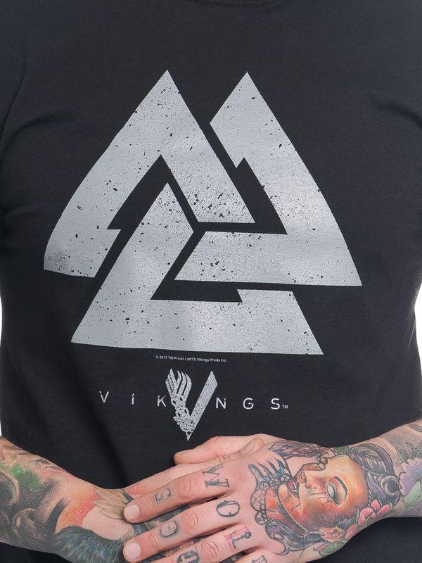 Vikings Triangle Tee for Men black – Bild 5