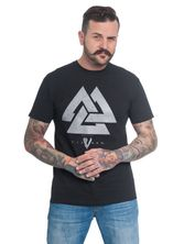 Vikings Triangle Tee for Men black – Bild 0