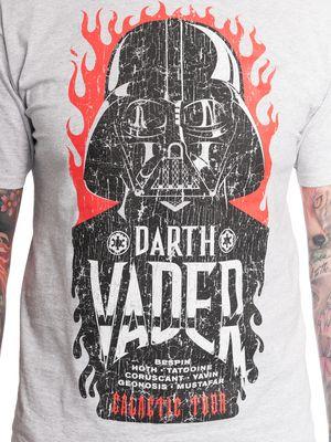 Star Wars Galactic Tour Herren T-Shirt grau meliert – Bild 3