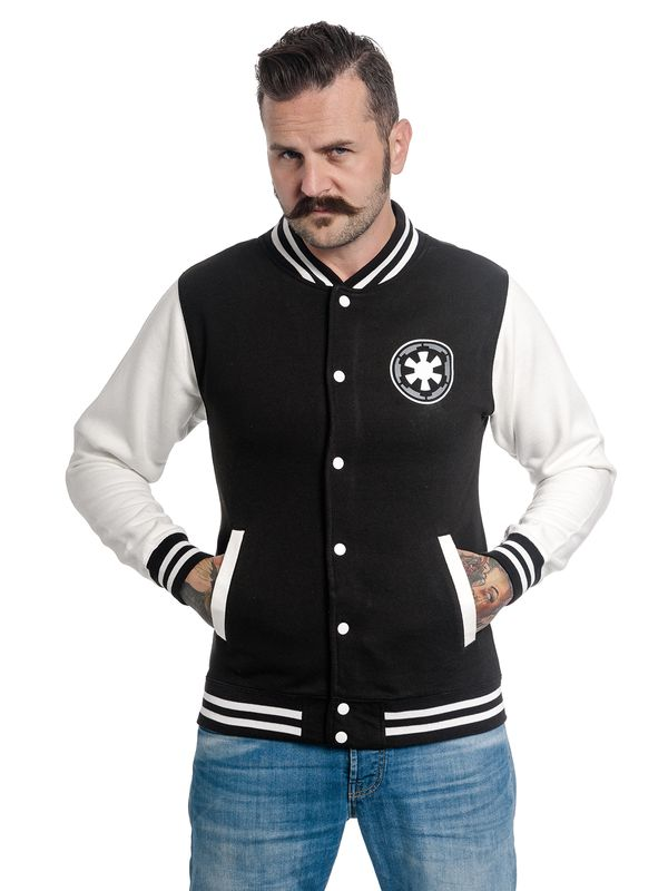 Star Wars Trooper Head College Jacket black/white – Bild 1