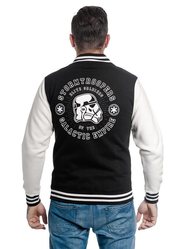 Star Wars Trooper Head College Jacket black/white – Bild 3