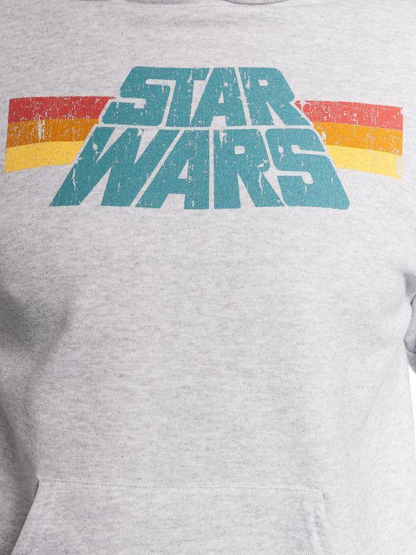Star Wars Vintage Herren Kapuzenpullover grau-meliert – Bild 4