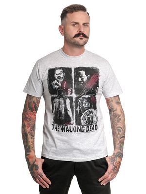 The Walking Dead Factions Four Characters Herren T-Shirt grau-meliert – Bild 0