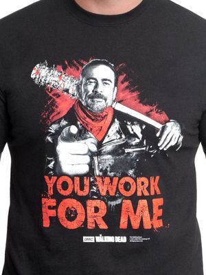 The Walking Dead You Work For Me T-Shirt black – Bild 2