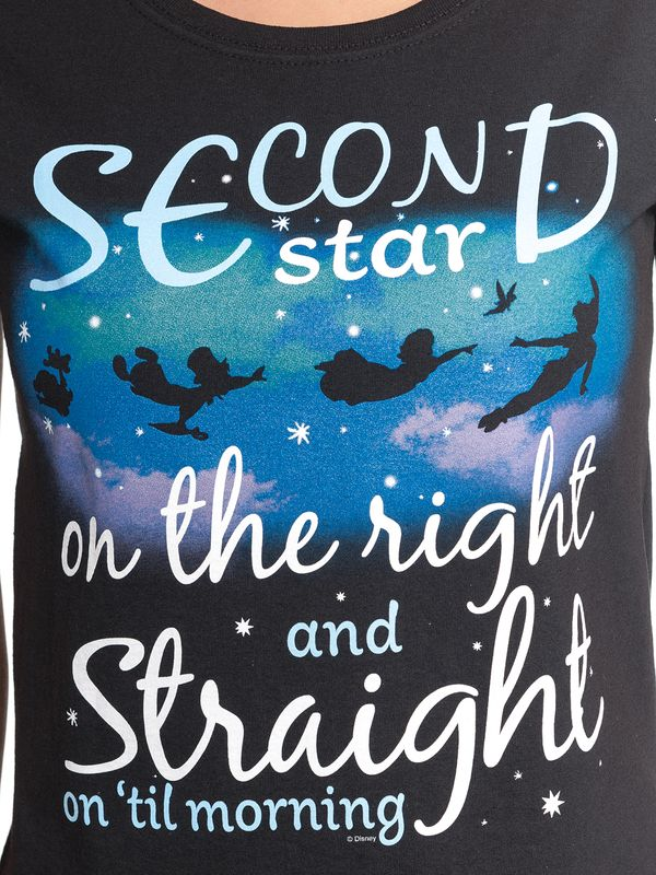 Peter Pan Second Star Frauen T-Shirt schwarz – Bild 4