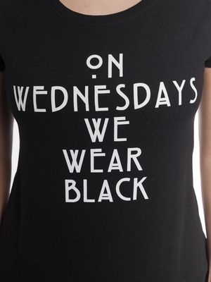 American Horror Story Wednesdays Damen T-Shirt Schwarz – Bild 3
