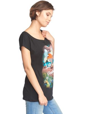 Alice in Wonderland Late Damen T-Shirt Schwarz – Bild 1