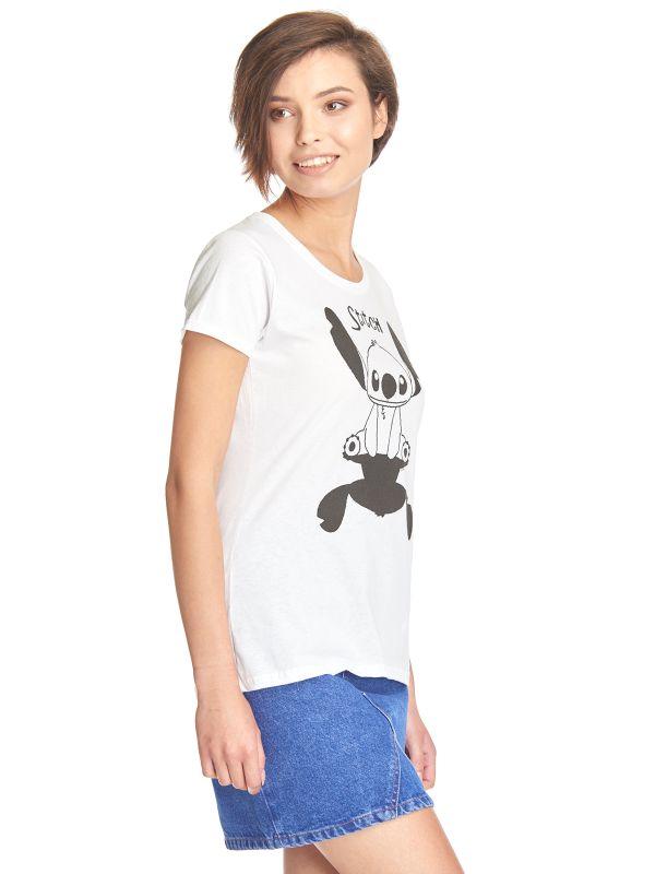 Lilo & Stitch Shadow Frauen T-Shirt weiss – Bild 1