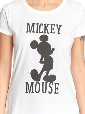 Disney Mickey & Co Mickey Mouse Frauen T-Shirt weiss – Bild 3